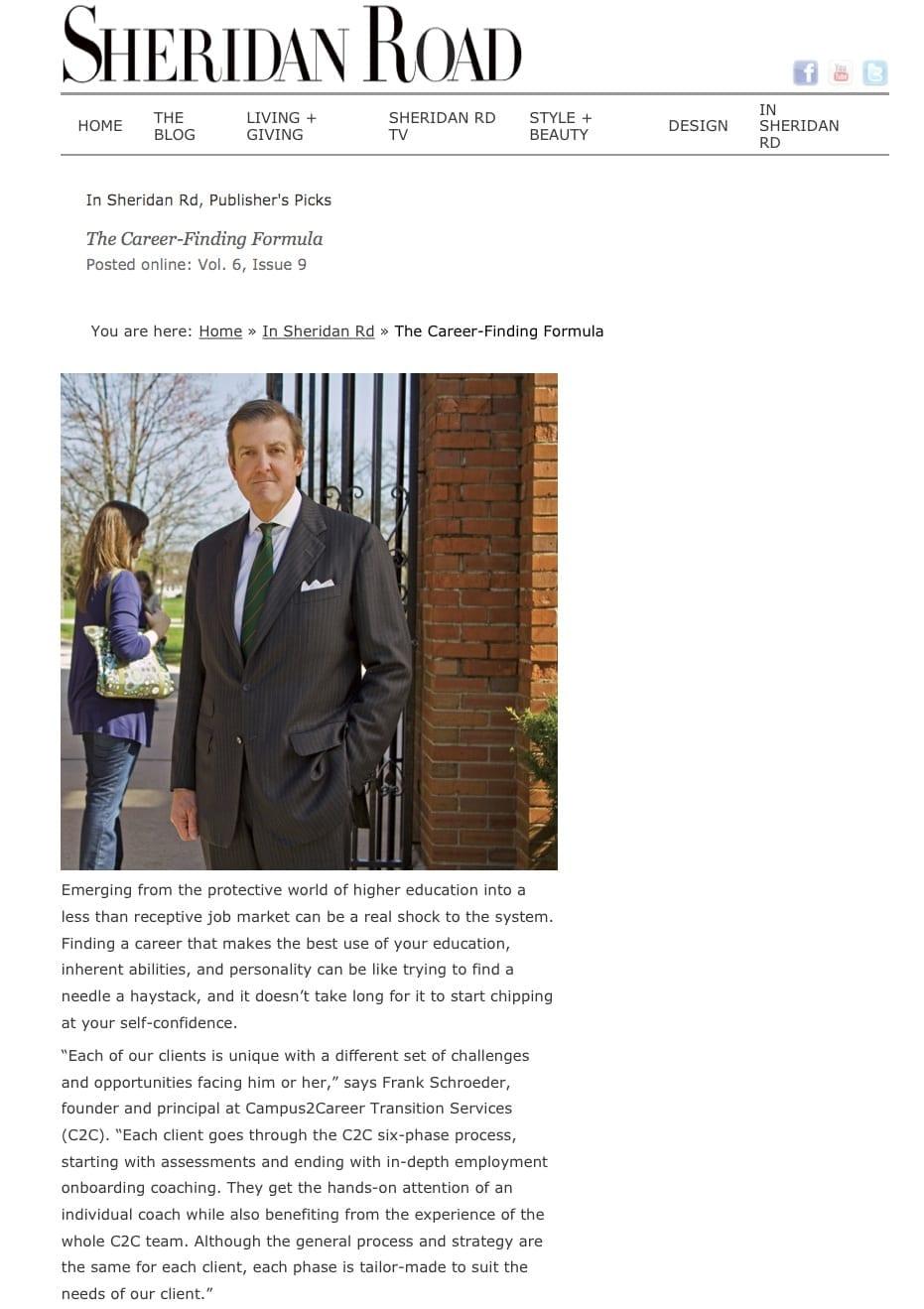 Campus2Career Sheridan Road Magazine